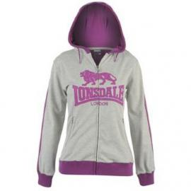 Dámská mikina Lonsdale GreyMarl/Purple