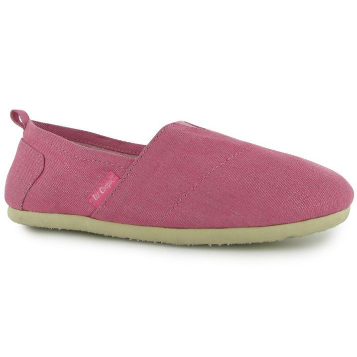 LEE COOPER SLIP ON LADIES CANVAS SHOES pink, Velikost: UK4 (euro 37)