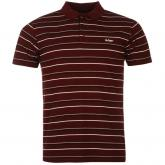 Lee Cooper Stripe Polo Mens Burgundy