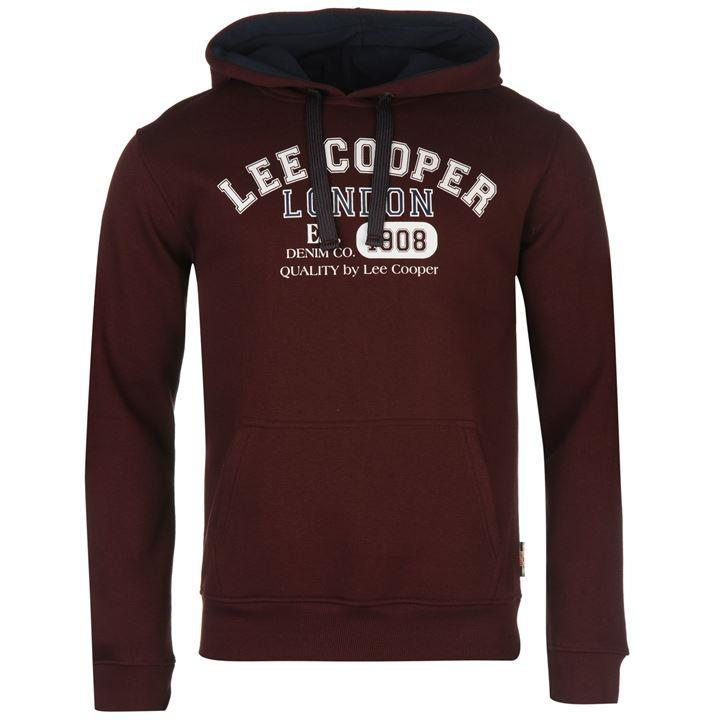 Pánská mikina Lee Cooper Burgundy, Velikost: M