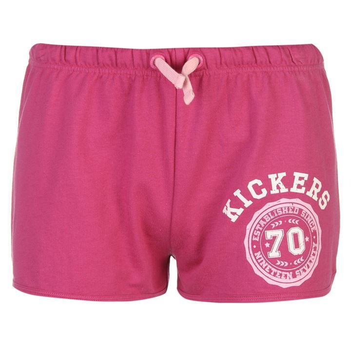 Kickers Logo Shorts Ladies Pink
