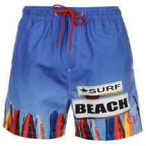 Ocean Pacific Sub Print Swim Shorts Blue