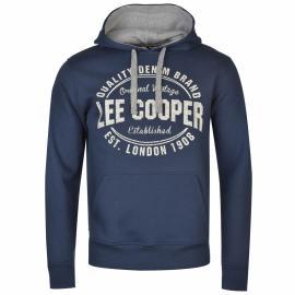 Pánská mikina s kapucí Lee Cooper Vintage Blue