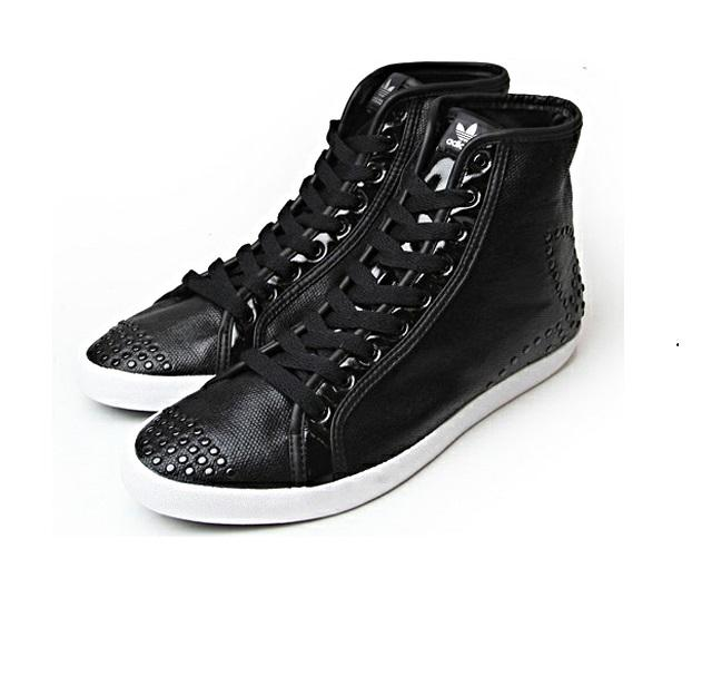 Boty Adidas Originals Womens Adria Hi Sleek Trainers Black, Velikost: UK4,5 (euro 37,5)