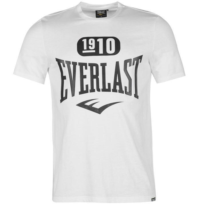 Tričko Everlast Logo T Shirt Mens White 1910