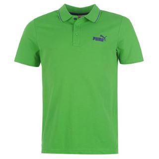 Pánské triko Puma Pigue polo - zelené, Velikost: M