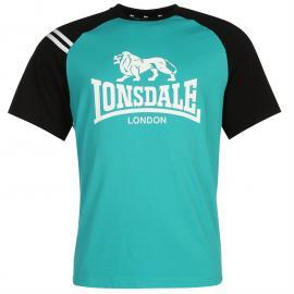 Tričko Lonsdale Raglan T Shirt Mens - Teal Teal