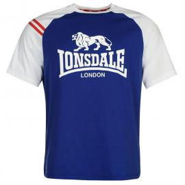 Tričko Lonsdale Raglan T Shirt Mens Blue
